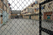 The exercise yard of the women's central prison , Lima, Peru, September 2004. - Boris Heger - 29-08-2004