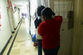 Detaines in a corridor at the women's central prison, Lima, Peru, September 2004. - Boris Heger - 29-08-2004