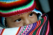 Young child wearing traditional indigenous clothes, Lima, Peru, September 2004. - Boris Heger - 29-08-2004