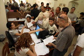 Iraqi refugees register themselves ahead of a food distribution. There is an estimated 1.4 million Iraqis who sought refuge in Syria due to the ongoing violence in their country. Red Crescent Headquar... - Morris Bernard - 01-09-2007