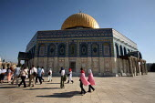 View of the Dome of the Rock, near to the Al-Aqsa Mosque, East Jerusalem, September 2007. The sanctuary sheltering a stone believed to be the place from which the Prophet Muhammad ascended into heaven... - Boris Heger - 11-09-2007