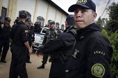 Mobile Anti-Disturbance Squad (ESMAD). Armed police prepare to close illegal gold mines by force. Police operation to close mines operated by small traditional miners. The Colombian government says it... - Boris Heger - 11-03-2012