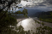 General view of the Apurimac river (source of the Amazon). The remote jungle region of VRAE / Ayacucho is increasingly invloved with coca trafficking and conflict with the maoist rebel group Shining P... - Boris Heger - 2010s,2012,Amazonian,Amerindian,Amerindians,apurimac,Ashaninca,Ashaninka,Ayacucho,Central Andes mountains,Colombia,Colombian,Colombians,conflict,conflicts,country,countryside,eni,environment,Environme