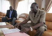 Michel Djotodia, Seleka designated President at home, Bangui, Central African Republic. - Boris Heger - Africa,2010s,2013,africa,African,Africans,CAF140,Central Africa,Central African Republic,conflict,conflicts,Djotodia,home,pol,political,POLITICIAN,POLITICIANS,politics,president,rebel,rebels,ucw,unres
