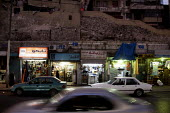 Row of shops in a collapsed building, Amman City Centre, Jordan. - Connor Matheson - 15-12-2011