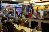 Eating at a snack bar, Castle Market, Sheffield. - Connor Matheson - 10-04-2012