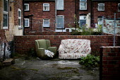 Furniture in the back garden, Bell vue, Wakefield. - Connor Matheson - ,2010s,2012,abandoned,chair,chairs,council estate,council services,council estate,council services,deprivation,discarded,disposal,dispose,dumped,eni,environment,Environmental Issues,EQUALITY,excluded,