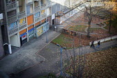 Two young men walk through the courtyard of Park Hill Estate, Sheffield. - Connor Matheson - 03-11-2012