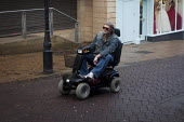 A man on a mobility scooter, Rotherham town centre. - Connor Matheson - 15-12-2012