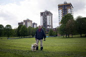 A man with his dog, Upperthorpe, Sheffield. - Connor Matheson - 2010s,2014,adult,adults,age,ageing population,animal,animals,canine,cities,city,dog,dogs,elderly,male,man,MATURE,men,OAP,OAPS,old,owner,owners,OWNERSHIP,PENSION,pensioner,pensioner.pensioners,pensione