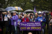Doncaster Care UK strikers. The People's March for the NHS following the route of the 1936 Jarrow march. Barnsley, South Yorkshire. - Connor Matheson - 25-08-2014