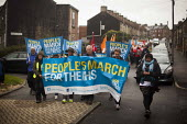 The People's March for the NHS following the route of the 1936 Jarrow march. Barnsley, South Yorkshire. - Connor Matheson - 25-08-2014