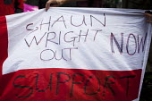 EDL members camp outside Rotherham police station demanding Police Commissioner Shaun Wright resign from his post. Rotherham Centre, South Yorkshire. - Connor Matheson - 29-08-2014