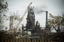 The Tata Steelworks. Scunthorpe, South Humberside. - Connor Matheson - 2010s,2014,Blast furnace,British,capitalism,capitalist,chimney,chimneys,EBF,Economic,Economy,FACTORIES,factory,FOUNDRIES,FOUNDRY,furnace,FURNACES,Industries,INDUSTRY,maker,makers,making,manufacture,ma
