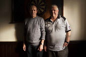 Retired steelworkers playing snooker in the Redbourne social club owned by Tata Steelworks. Scunthorpe, North Lincolnshire. - Connor Matheson - 29-10-2014