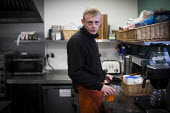 A young man on the 10 month chef training scheme. The Community Shop, Goldthorpe, South Yorkshire. - Connor Matheson - 16-12-2014
