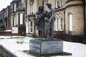 A memorial statue: To those who lost their lives in supporting their union in times of struggle. The Unite Community support centre Barnsley, Barnsley. At the headquaters of the NUM. - Connor Matheson - 29-01-2015