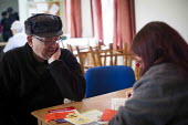 A local man talks to a volunteer about his circumstances. Gateway food bank, Barnsley Centre. - Connor Matheson - 29-01-2015