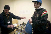 Free food parcels being given out. The Drop in Kitchen, Barnsley Centre. - Connor Matheson - 02-02-2015