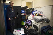 Donated clothes in storage. The Drop in Kitchen, Barnsley Centre. - Connor Matheson - 02-02-2015