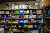 Donated food in storage. The Drop in Kitchen, Barnsley Centre. - Connor Matheson - 02-02-2015
