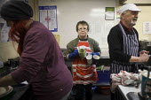 Breakfast being prepared. The Drop in Kitchen, Barnsley Centre. - Connor Matheson - 02-02-2015