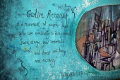 Creative recovery mural. Barnsley Town Centre. Creative Recovery is a movement of people who use creativity to bring about social change, inspire community spirit and boost well-being and Recovery. - Connor Matheson - 2010s,2015,ACE,arts,charitable,charity,cities,city,communities,community,culture,giving,help,helping,HELPS,idea,idear,idears,ideas,movement,people,public,recovery,scene,scenes,social,Social Issues,soi