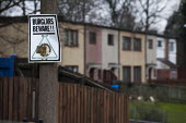 Neighbourhood watch sign. Old housing next to newly built eco housing, Cutlers view. Sheffield, South Yorkshire. - Connor Matheson - 12-03-2015