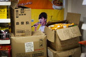 A chinese singer on an advertisement in a chinese food store. Sheffield, South Yorkshire. - Connor Matheson - 14-03-2015