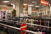 A woman shopping in a TK Maxx. Sheffield, South Yorkshire. - Connor Matheson - 14-03-2015