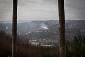 A view from the abandoned Ski Village. The Ski Village was burnt down in 2012 by an arson attack and has since been left derelict. Sheffield, South Yorkshire.. - Connor Matheson - 2010s,2015,abandoned,arson,Artificial Ski Slope,burnt,Burnt Out,cities,city,cityscape,cityscapes,closed,closing,closure,closures,derelict,DERELICTION,disused,Dry Ski Slope,hill,hills,outdoors,outside,