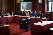 Sheffield council planning committee voting on whether a row of shops on Devonshire Street should be demolished and a new development by CODA should take place. The development was approved. Sheffield... - Connor Matheson - 24-03-2015