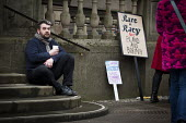 Protest outside Sheffield Town Hall against the demolition of Devonshire Street. The protest was during the council planning commitees vote on whether a row of shops on Devonshire Street, including ra... - Connor Matheson - 24-03-2015