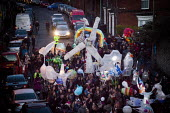 Sharrow Lantern Festival, a carnival where Local people make and parade lanterns in the streets, Sharrow, Sheffield, South Yorkshire. - Connor Matheson - 12-04-2015