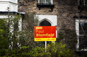 Vote Paul Blomfield Labour Party poster in a front garden. Nether Edge, Sheffield, South Yorkshire. - Connor Matheson - 16-04-2015