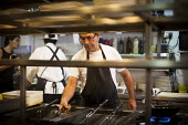 Chefs preparing food, Tropicana Hotel kitchen. Tourism is a vital industry for the maltese economy, contributing 15 to its GDP. Since 2009 Malta has experienced a 10 drop in tourism. Tropicana Hotel.... - Connor Matheson - 21-04-2015