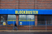 A closed down Blockbuster retail unit. Blockbuster filed for bankruptcy in 2010 and has closed down 9,000 stores largley due to changes in the industry including the introduction of video streaming si... - Connor Matheson - 03-05-2015