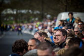 Local people and cycling enthusiasts watching the first anual Tour De Yorkshire, a cycling race inspired by the success of the Tour De France. Roundhay Park, Leeds, West Yorkshire - Connor Matheson - 2010s,2015,bicycle,bicycles,BICYCLING,Bicyclist,Bicyclists,BIKE,BIKES,cities,city,cycle,cycles,cycling,Cyclist,Cyclists,Leeds,Local,PHYSICAL,race,races,racing,spectator,spectators,spo,sport,sports,suc