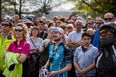 Local people watching the Tour De Yorkshire on a big screen. Roundhay Park, Leeds, West Yorkshire - Connor Matheson - 2010s,2015,bicycle,bicycles,BICYCLING,Bicyclist,Bicyclists,BIKE,BIKES,cities,city,cycle,cycles,cycling,Cyclist,Cyclists,Leeds,Local,PHYSICAL,race,races,racing,spectator,spectators,spo,sport,sports,urb