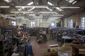 An indoor view of J Adams Knives and Cutlers. J Adams and Sons manufacture a range of military and cooking knives out of steel using traditional hand based production methods. The family business empl... - Connor Matheson - 18-05-2015