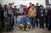 Campaigners and supporters rally to mark the 31st anniversary of the battle of Orgreave which took place during the 1984- 1985 miners strike. Activists and victims are demanding a public enquiry into... - Connor Matheson - Miners Strike, Trades Union,2010s,2015,abuse,activist,activists,adult,adults,animal,animals,anniversary,Battle of Orgreave,CAMPAIGN,campaigner,campaigners,CAMPAIGNING,CAMPAIGNS,canine,DEMONSTRATING,de