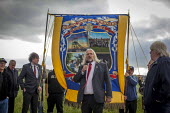 Tosh McDonald ASLEF speaking to Campaigners and supporters rally to mark the 31st anniversary of the battle of Orgreave which took place during the miners strike. Activists and victims are demanding a... - Connor Matheson - 18-06-2015