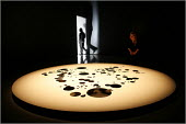 """Nahia Hassan's installation """" I was overcome with a momentary panic at the thought that they might be right"""". The replica scale model of all the bomb detonations in Beruit between 1975-91 is part of t... - Christopher Thomond - 02-12-2005"""