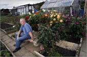 Blind gardener of the Year Harry Wardle at his allotment in Reddish, Stockport. - Christopher Thomond - 14-10-2005