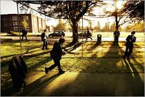 Pupils arriving at Manchester Grammar School. - Christopher Thomond - 2000s,2005,adolescence,adolescent,adolescents,ARRIVAL,arrivals,arrive,arrived,arrives,arriving,boy,boys,bursary,child,CHILDHOOD,children,edu education,elite,elitism,EQUALITY,fees,Grammar,independent,I