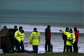 The search and rescue operation ( 6th February 2004) in Morecambe Bay, Lancashire, after cockle fishers were stranded on sandbanks by the incoming rising tide. The Chinese gangmaster, Lin Liang Ren wa... - Christopher Thomond - 06-02-2004