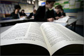 Pupils at Woodchurch High School in Wirral Liverpool using the bible extensively in RE classes. - Christopher Thomond - 08-03-2005