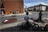 The streets around Fishwick Parade in Preston where 20 year old Shezan Umarji was stabbed to death in the early hours of Saturday in a racist incident. - Christopher Thomond - 2000s,2006,asian,bicycle,bicycles,BICYCLING,Bicyclist,Bicyclists,bigotry,BIKE,BIKES,black,BME Black minority ethnic,boy,boys,child,CHILDHOOD,children,communities,community,corner,CYCLE,cycles,CYCLING,