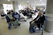 Patients waiting in Bexley Wing at St James' Hospital in Leeds. - Christopher Thomond - 10-06-2008