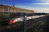 Trains running on the West Coast main line through Stockport. Services were severely disrupted on the first day of operations after completion of a �9bn upgrade - Christopher Thomond - 15-12-2008